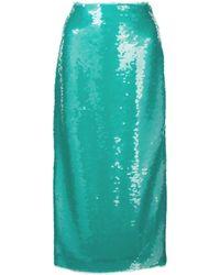 Prabal Gurung Sequin Pencil Skirt - Blue