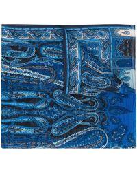 Etro Fular con motivo de cachemira - Azul
