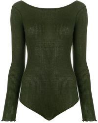 Faith Connexion - Open Back Knitted Bodysuit - Lyst