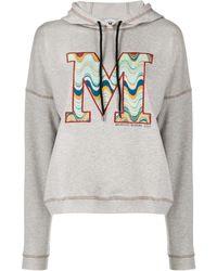 M Missoni Худи С Вышитым Логотипом - Серый