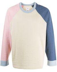 Visvim Jersey con diseño colour block - Rosa