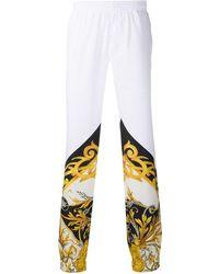 Versace Спортивные Брюки С Принтом Barocco Acanthus - Белый