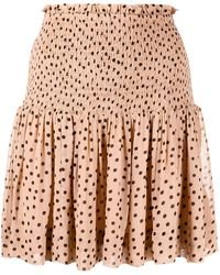 Ganni Polka-dot Skirt - Multicolour