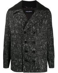 Dolce & Gabbana Fantasia チェック コート - ブラック