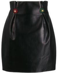 Versace ギャザーウエスト スカート - ブラック
