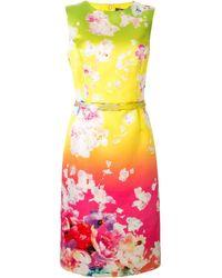 Ralph Lauren Collection Tuscon フローラル ドレス - ピンク