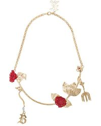 Christopher Kane - Rose Chain Necklace - Lyst