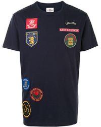 Kent & Curwen マルチパッチ Tシャツ - ブルー