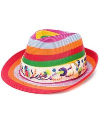 Etro - Striped Panama Hat - Lyst