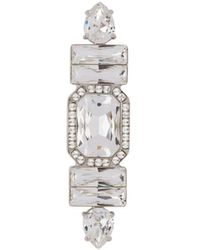 Miu Miu Broche con detalles de cristal - Metálico