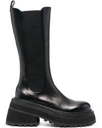 Marsèll Высокие Ботинки На Массивной Подошве - Черный