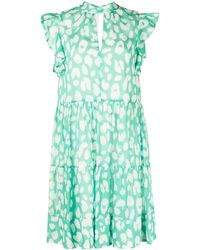 MILLY Robe Mona courte - Vert