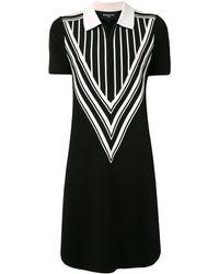 Paule Ka ジップ ニットドレス - ブラック