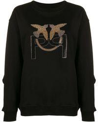 Pinko Embellished Logo Sweatshirt - Black