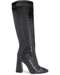 Karl Lagerfeld Metro High-leg Boots - Black