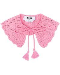 MSGM タッセル ニットカラー - ピンク