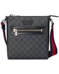 Gucci GG Supreme Small Messenger Bag - Black