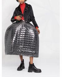 Comme des Garçons キルティング フルスカート - ブラック