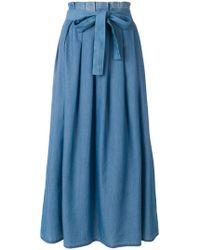 Fabiana Filippi - Pleated Belted Skirt - Lyst