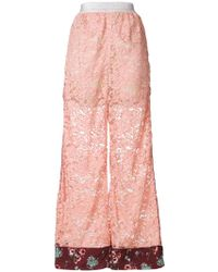 I'm Isola Marras - Lace Palazzo Trousers - Lyst