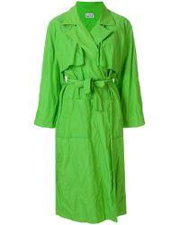 Arthur Arbesser Oversized Trench Coat - Green