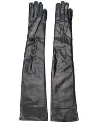 Ann Demeulemeester - Long Leather Gloves - Lyst