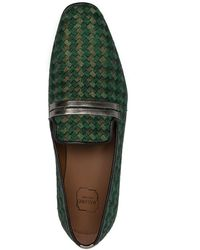 Malone Souliers Miles Slip-on Loafers - Green