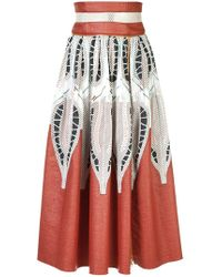 Sophie Theallet - Printed A-line Skirt - Lyst