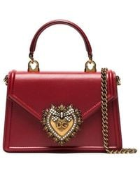Dolce & Gabbana Mini Devotion Tote - Red