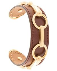 Hermès Pre-owned Leather Bangle - Brown