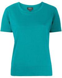 A.P.C. ジャージー Tシャツ - ブルー