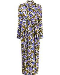 Christian Wijnants Long-sleeve Shirt Dress - Blue
