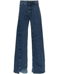Diesel Red Tag Decay Wijde Jeans - Blauw