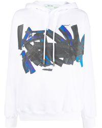 Off-White c/o Virgil Abloh Sudadera con capucha y logo gráfico - Blanco