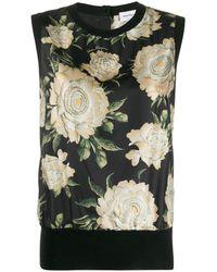 Ferragamo Блузка С Цветочным Принтом - Черный