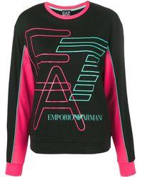 EA7 Logo Printed Sweater