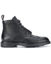Canali ブローグブーツ - ブラック