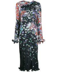 Givenchy Плиссированное Платье Миди - Черный