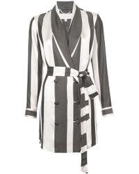 Michelle Mason - Wide Striped Elongated Jacket - Lyst