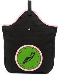 Kiko Kostadinov Grand sac cabas à patch brodé - Noir