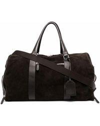 Eleventy Suede Holdall Bag - Brown