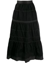 Ulla Johnson エンブロイダリー スカート - ブラック
