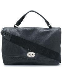 Zanellato Distressed Messenger Bag - Black