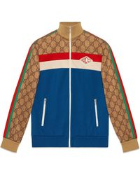 Gucci GG Technical Jersey Jacket - Blue