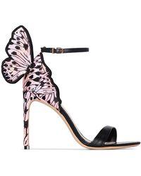 Sophia Webster Sandales à talons à applique papillon - Noir