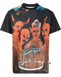 Walter Van Beirendonck X Pablo Iglesias Prada Tシャツ - ブラック