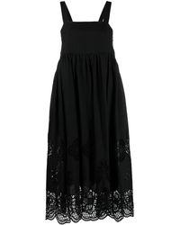 See By Chloé フローラルレース ドレス - ブラック