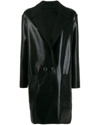 Pinko Manteau à boutonnière croisée - Noir