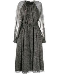 Ports 1961 シェブロン ドレス - ブラック