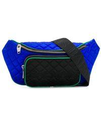 Balmain キルティング ベルトバッグ - ブルー